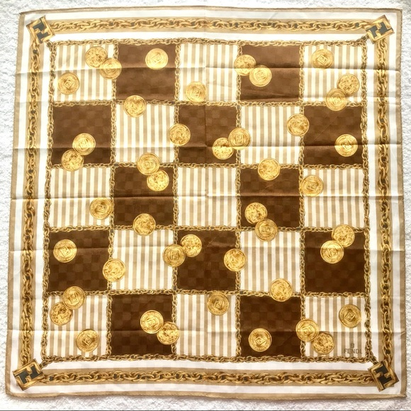 Fendi mini scarf handkerchief cotton chains bag